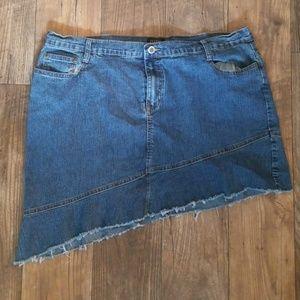Isabel Plus Size 18W Denim Mini Skirt